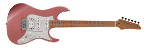 Ibanez Prestige Roasted Maple Neck with Seympur Duncan Hyperion and Hardshell case in Hazy Rose Metallic - The Guitar World