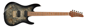 IBANEZ AZ PREMIUM POPLAR BURL WITH GIG BAG IN CHARCOAL BLACK BURST - The Guitar World