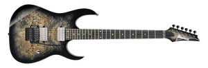 IBANEZ RG PREMIUM POPLR TOP, EDGE BRIDGE WITH GIG BAG CHARCOAL BLACK BURST - The Guitar World