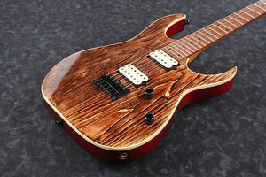 IBANEZ RG ASH TOP ROASTED MAPLE NECK IN ANTIQUE BROWN STAINED LOW GLOSS - The Guitar World