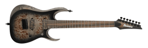 Ibanez RGD Axion Label 7 String Electric Guitar in Charcoal Burst Black Flat RGD71ALPACKF