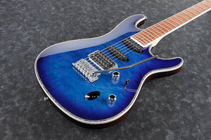 IBANEZ SA ELECTRIC 6 STRING OKOUME BODY, QUILTED MAPLE TOP IN SAPPHIRE BLUE - The Guitar World