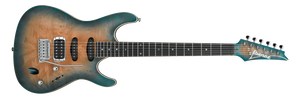 IBANEZ SA ELECTRIC 6 STRING OKOUME BODY, MAPLE BURL TOP IN SUNSET BLUE BURST - The Guitar World