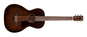 Art & Lutherie Roadhouse Parlor-Style Acoustic Guitar in Bourbon Burst 045549