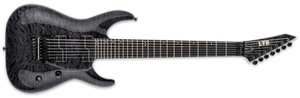 ESP LTD 7-String Solid-Body Electric Guitar, Unearth Signature Series - LBUZ7QMSTBLK - The Guitar World