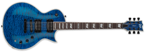 ESP LTD EC-1000 PIEZO IN SEE THRU BLUE - The Guitar World