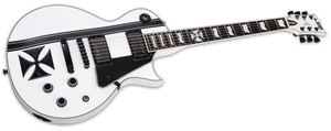 ESP LTD LTD IRON CROSS JAMES HETFIELD IN SNOW WHITE - The Guitar World
