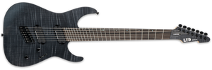 ESP LTD M-1007 MULTI-SCALE IN SEE THRU BLACK SATIN - The Guitar World