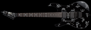 ESP LTD KH DEMONOLOGY BLACK WITH GRAPHIC LEFT HANDED - The Guitar World