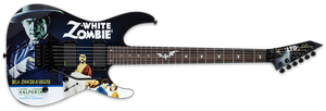 ESP LTD Kirk Hammett Signature Series Electric Guitar White Zombie LKHWZ - The Guitar World