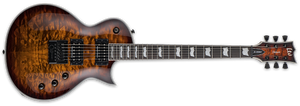 ESP LTD EC-1000 EVERTUNE QUILTED MAPLE SUNBURST IN DARK BROWN SUNBURST - The Guitar World