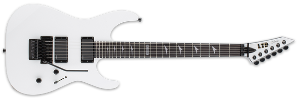 ESP LTD M-1000 EBONY IN SNOW WHITE - The Guitar World