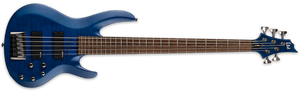 ESP LTD 5 STRING SEE THRU BLUE ELECTRIC BASS - LB205FMSTB - The Guitar World