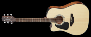 Takamine Acoustic-Electric Guitar Left-Handed Dreadnought Cutaway - Natural GD30CELH-NAT