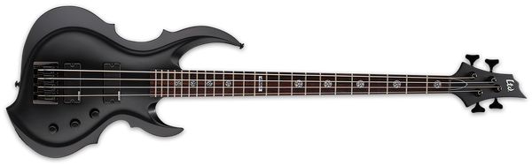 ESP LTD Tom Araya Signature Series FRX Electric Bass Black Satin LTA204FRXBLKS - The Guitar World