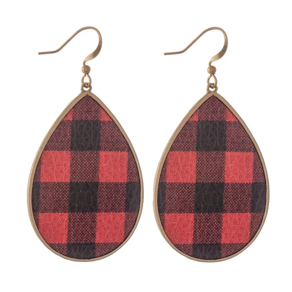 Buffalo Teardrop Earrings