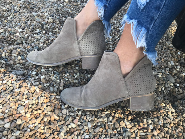 Casual Side Cut Booties - Addi & Ains Boutique