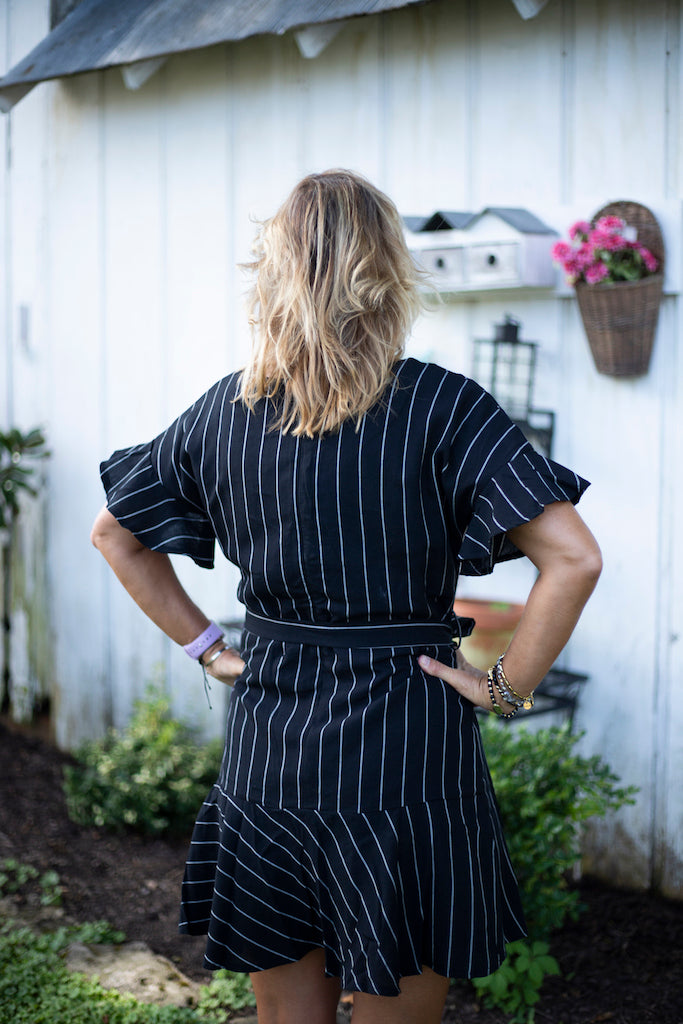 A Day At The Office Striped Woven Dress - Addi & Ains Boutique