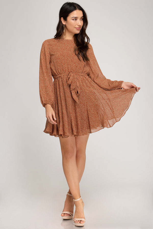 Falling Leaves Flare Dress