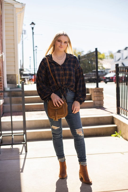 Maura Ann Checkered Top
