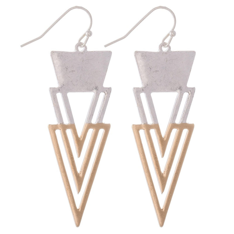 Modern Triangle Drop Earrings