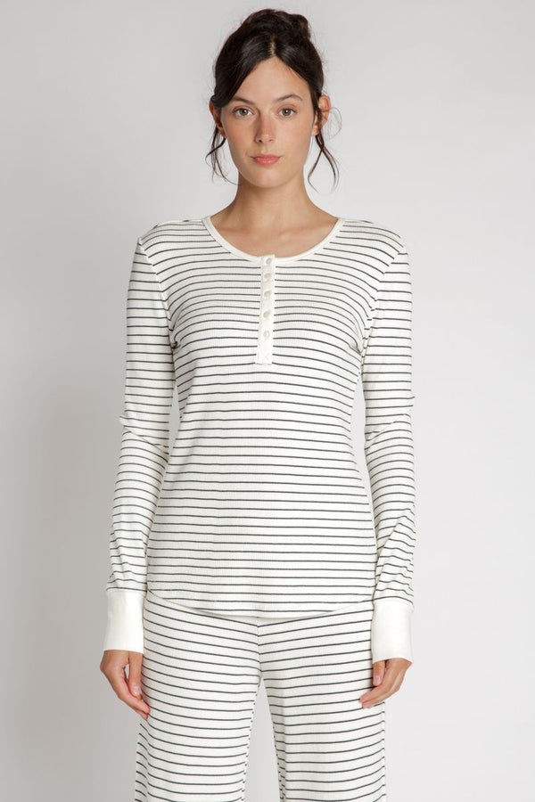Maeve Striped Thermal Top