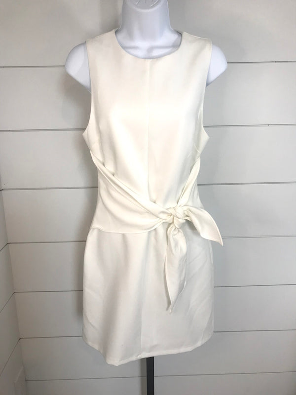 Sara Tie Waist Dress White- Size S - Addi & Ains Boutique