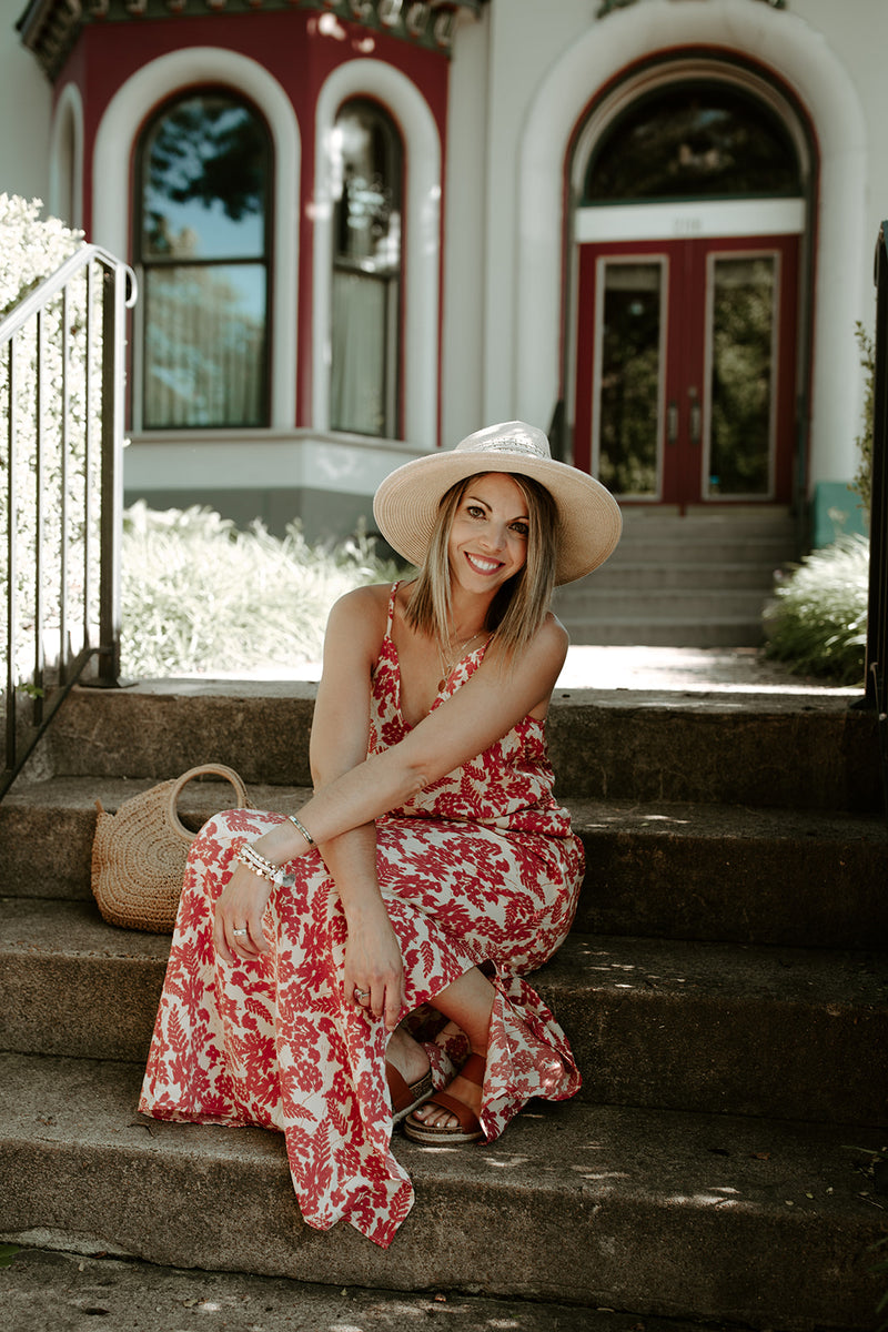 Let's Picnic Floral Maxi Dress - Addi & Ains Boutique