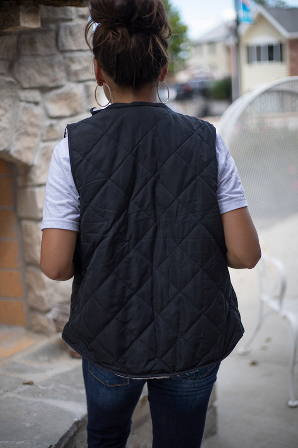 Terry Reversible Sherpa Vest