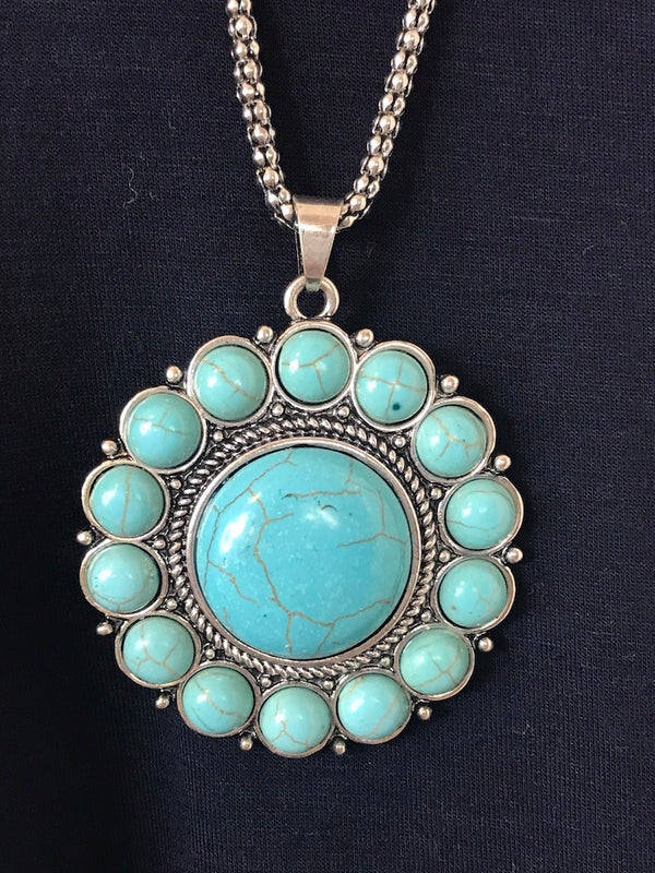 Flower Stone Necklace - Addi & Ains Boutique