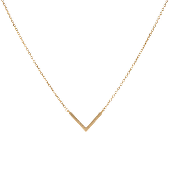 Geometric V Necklace