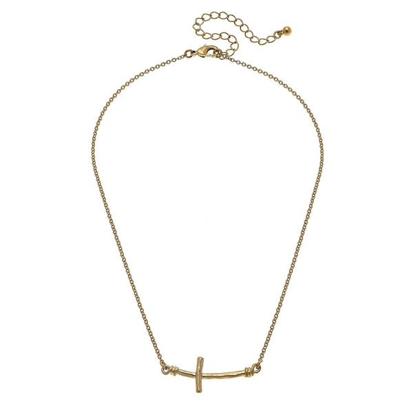 East West Cross Necklace
