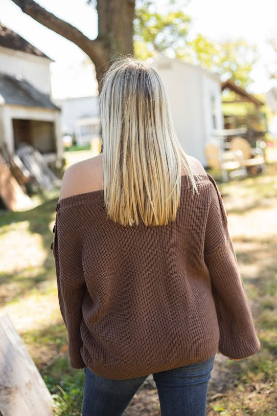 Mandie Button Sweater