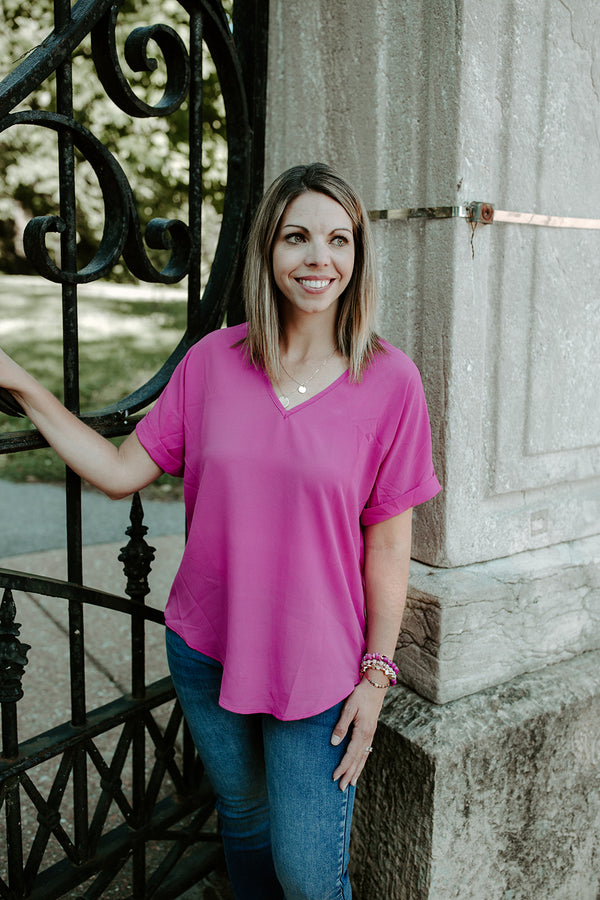 Carly V Neck Top - Addi & Ains Boutique