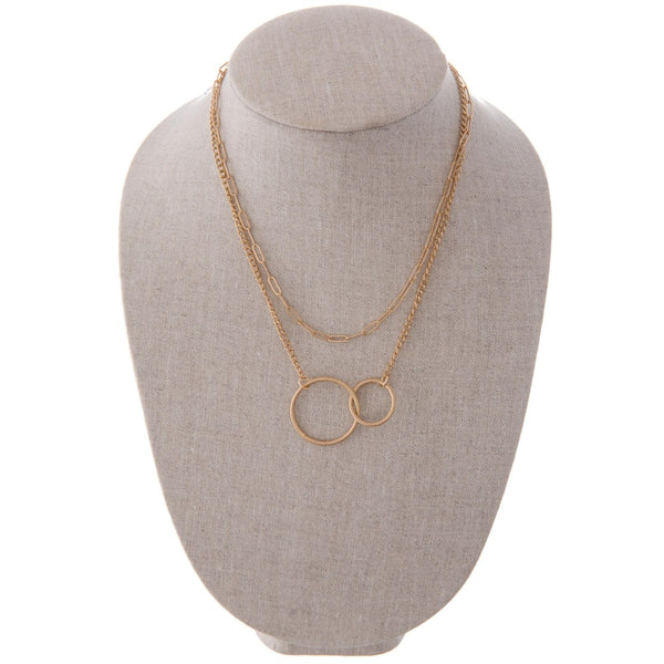 Circle Linked Necklace