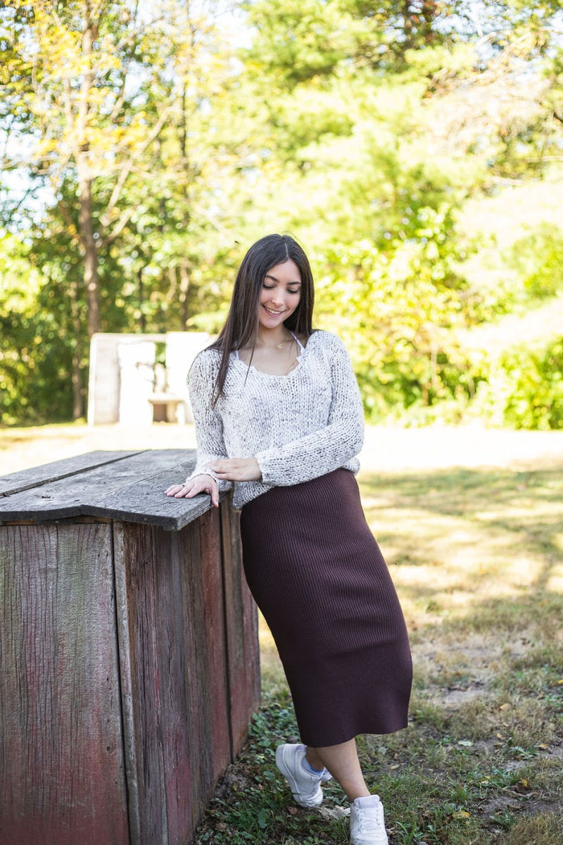Ryker Ribbed Knit Midi Skirt