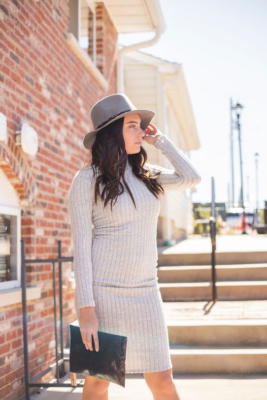 Swiss Sweater Midi Dress