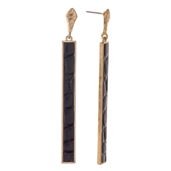 Animal Print Bar Drop Earrings
