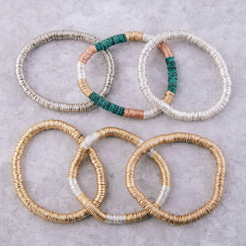 Spacer Disc Beaded Bracelet