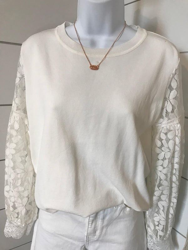 Isabella Lace Sweater - Addi & Ains Boutique
