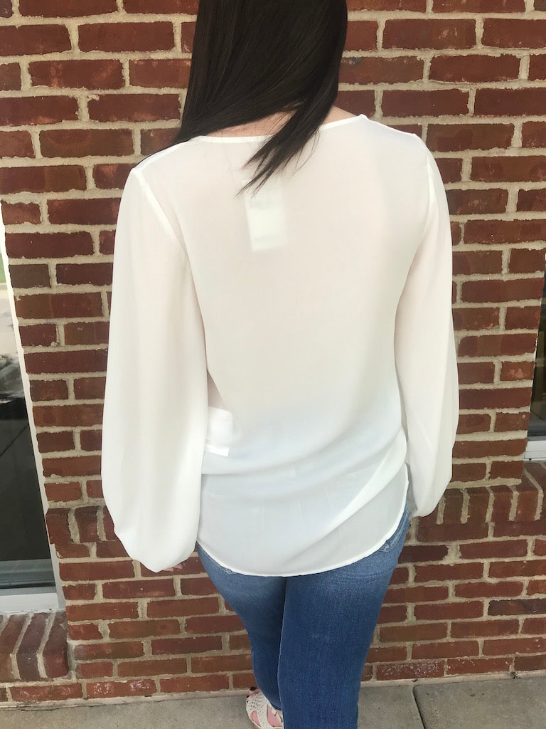 Belle Balloon Sleeve Blouse - Addi & Ains Boutique