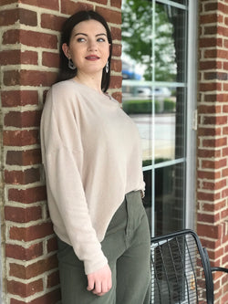 Mila Knit Twist Back Top- Size L - Addi & Ains Boutique