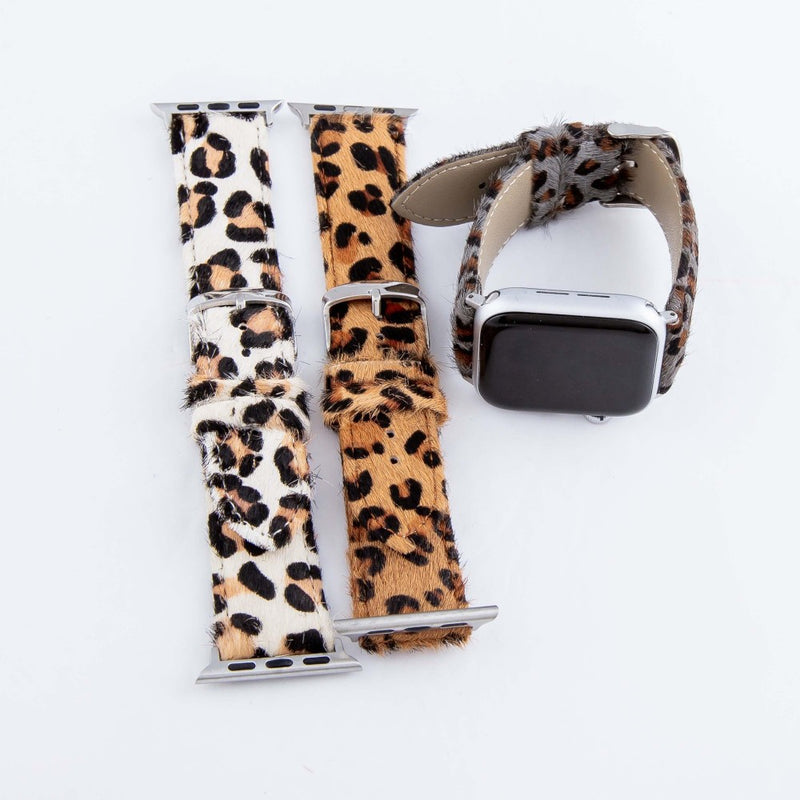 Leopard Cowhide Smartwatch Band