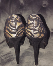 Load image into Gallery viewer, LUXE— lace heels (Thrift) .  SOLD