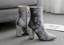 Load image into Gallery viewer, LUXE-- Velour booties