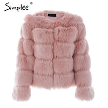 Load image into Gallery viewer, LUXE-- Fuffy faux fur coat