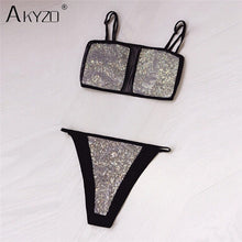 Load image into Gallery viewer, LUXE-- Sparkle Lingerie Set