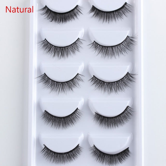 KIMMY'S KOSMETICS-- Faux Lashes, 5 Pair Multipack