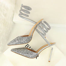 Load image into Gallery viewer, Sparkle Wrap around Heels