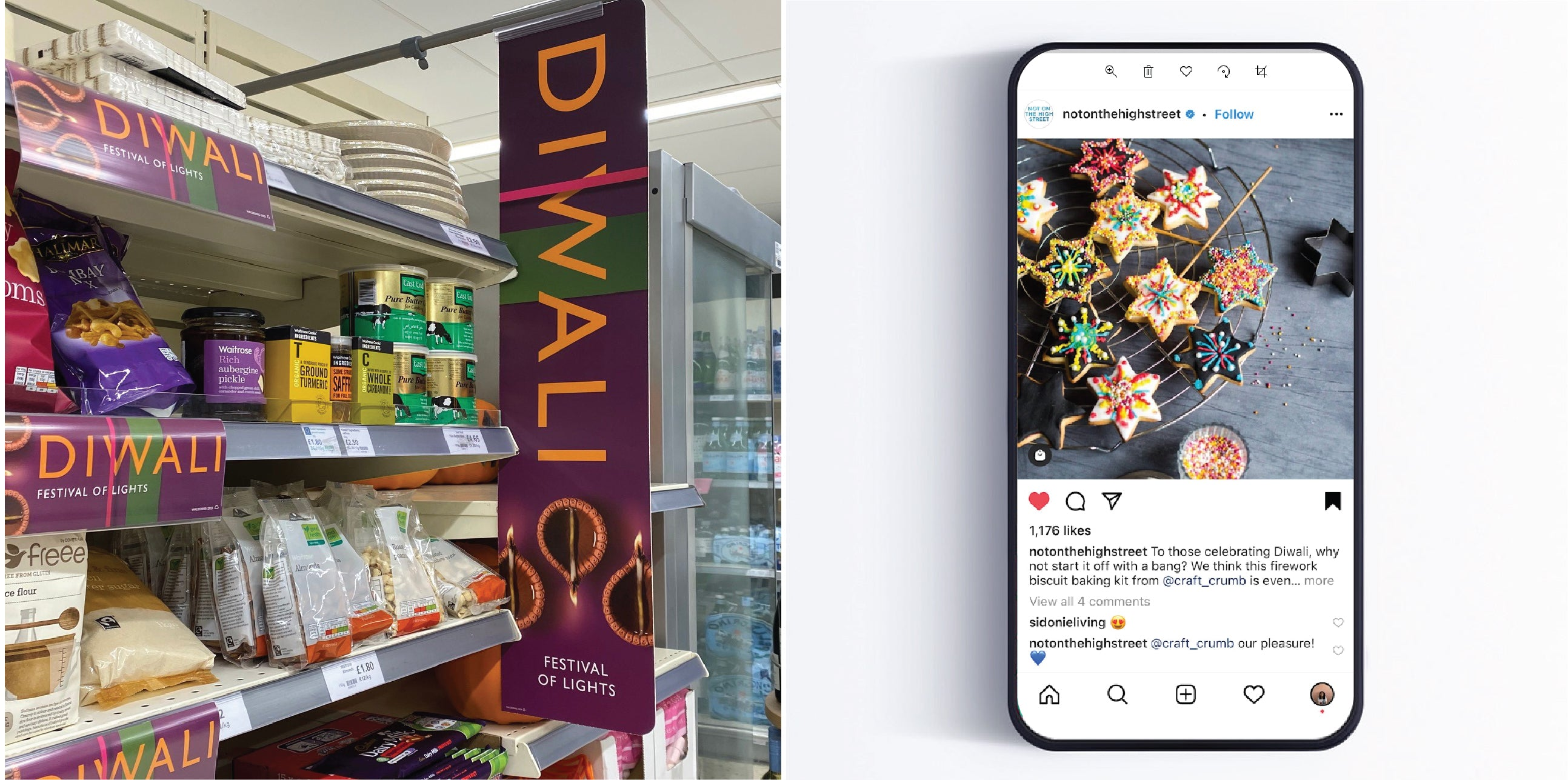 Waitrose and Not On The Highstreet Diwali 2020 feature